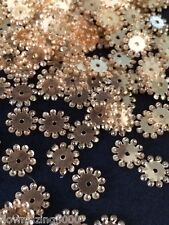 Sequins Starburst Snowflake Flower 8mm Soft Gold Super Shine/Mirror Rare