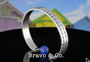 8SB-864 Hallmark Solid 925 Sterling Silver Armband Cuff Bangle Men Bracelet.