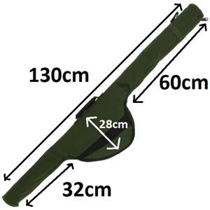 NGT (515) 130cm Long Carp Fishing Padded Rod Bag Sleeve For Made Up Rod