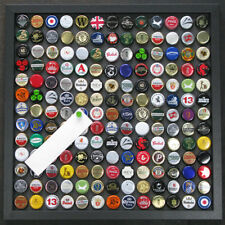 New Recycled beer top Magnetic notice board Medium size in black wood frame