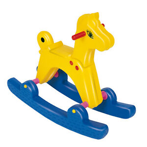 Schaukelpferd gelb extra groß: 67x27x55 cm (EU Ware) Pferd Pferdchen