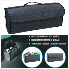 Gray Multipurpose Car SUV Cargo Trunk Organizer Storage Console Collapsible Bag