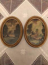 Antiche Miniature, olio su Avoriolina, primi del '900.