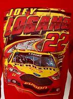 JOEY LOGANO 22 NASCAR RACING LONG SLEEVE T-SHIRT ADULT XL