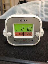 Sony Dream Machine FM/AM Clock Radio ICF-C180 Dual Alarm Clock White Tested EUC
