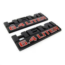 2x OEM Origianl 6.4 LITER HEMI Emblem Badges 6.4L Dodge RAM 2500 3500 Y Black M