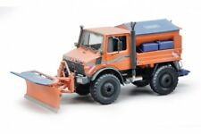 SCHUCO 07725, MERCEDES-BENZ UNIMOG U1600, WINTERDIENST (ORANGE), 1:32 SCALE, NEW