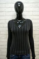 MARLBORO CLASSICS Donna M ( S ) Maglione Felpa Pullover Cotone Sweater Cardigan