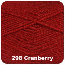 Cygnet DK Soft 100 Acrylic Knitting Yarn 100g Cranberry 298