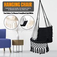 Hammock Tassels Chair Hanging Swinging Outdoor Indoor Garden Bedroom Cotton Tool