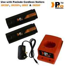 2 x Pro Series Batteries & Charger Set for Paslode IM350 /IM350+/ IM65A / IM250