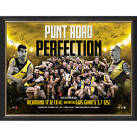 "Richmond Signed 2019 AFL Premiers ""Punt Road Perfection"" Official Print Framed"