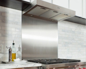 Satin Stainless Steel Splashback 600mm x 750mm x 1.2mm Kitchen Hob Back Splash