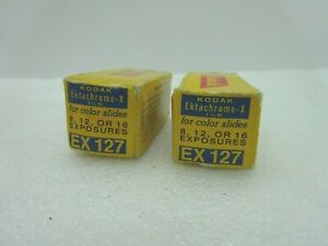 NOS Vintage Kodak Ektachrome- X  EX127 For Color Slides Expired Oct 1973 2 Rolls