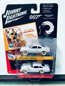 1/64 JOHNNY WHITE LIGHTNING 2-PACK OO7 JAMES BOND 74 AMC HORNET 64 ASTON MARTIN