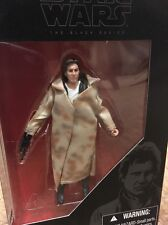 Star Wars 3.75 inch scaled Han Solo action figure with poncho and blaster.