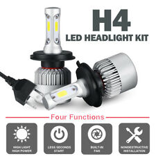 CREE COB H4 9003 HB2 LED Headlight Kit Hi-Lo Car White Light Bulbs Moreultrathin