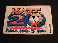 The Katt - 100.5  Okla. City Radio Station 1996 Vintage Bumper Sticker 6'' X 4''