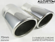 CHROME EXHAUST TIPS MUFFLER TAILPIPE for AUDI A4 B8 8K2 2007-2015 SLINE S4 70mm