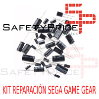 Kit reparación Sega Game Gear repair kit condensadores capacitors Full Kit