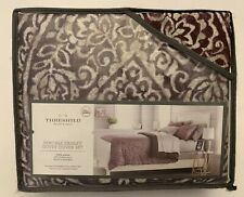 Duvet Cover Set Bedding - Threshold - Paisley Ogee - Purple Pattern, Full/Queen
