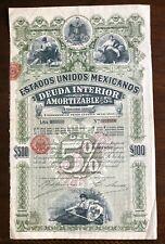 MEXICO 1898 5% DEUDA INTERIOR $500 LETRA I