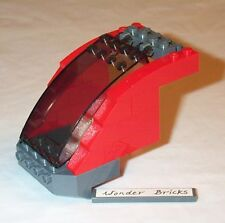Lego Train Base Curved Windscreen Red High-Speed Train Cockpit 7938