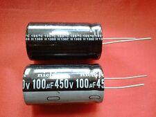 2 X 100UF 100mfd 450V Electrolytic Capacitor 105 degrees + USA FREE SHIPPING