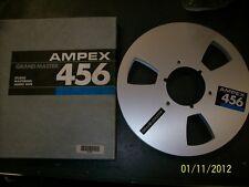 "Ampex 456 Metal Aluminum Take Up Reel & Master Box 1/4"" 1/4"" no tape 10.5"" 10"