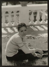 FOTO ORIGINALE GIGANTE ANNA IDENTICI IN RELAX ANNI '60 CARTA LUCIDA CM 22X30