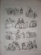 Sketches at the Smithfield Cattle Club Show ST Dadd 1885 old cartoon print