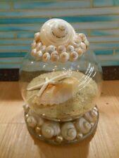 Seashell and Sand Globe - Coastal Snow Globe, Embellished Snow Globe, Gifts