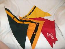 Vintage 1960's boy Scout neckerchiefs scarfs