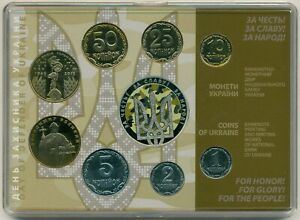 Ukraine annual set of coins 2015 + 5 hryven Defender's Day in the booklet