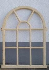 Antik weiß Bogen Stallfenster Scheunenfenster Eisenfenster Guss Eisen 95 cm  NEU