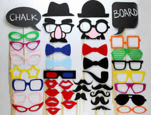 Photo Booth Props, Chalk Props, Wedding, Birthday Party Decorations, NO DIY RQRD