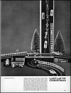 1960 F.A.O. Schwarz Scalextric model motor racing retro photo print ad adl83