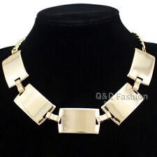 Egypt Cleopatra Celebrity Bold Curved Bar Statement Choker Collar Bib Necklace