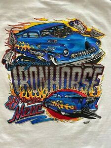 JOHNNY ROCCA IRON HORSE '49 MERC PRO MOD NHRA Short Sleeve Custom T-shirt