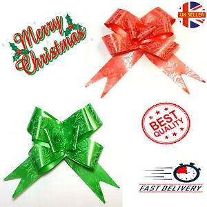 100pc Christmas Pull Bows 30mm Large Florist Ribbon Wedding Car Decorations Gift