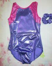Leotard New Size LC 12-14 Child Gymnastics Metallic Purple Foil Dance Balera CL