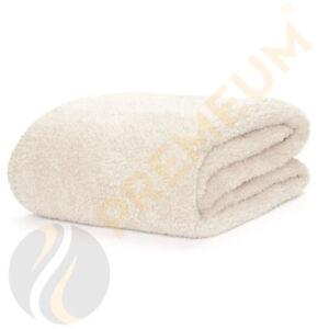 Large Cream Soft Cosy Warm Fleece Pet Dog Puppy Cat Animal Bed Blanket Throw UK