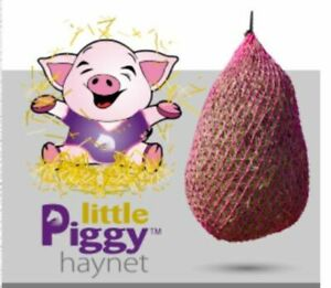 Little Piggy Small Hole Slow Trickle Feed Haynet  - Horse Pony Haylage Hay Net
