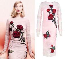 Stretch Floral Sheath Dresses for Women