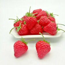 Frutas artificiales decorativas fresas para el hogar
