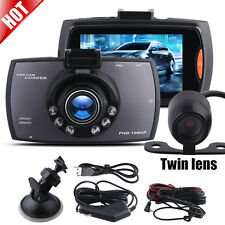 "New 2.8"" 1080P Dual Lens Car DVR Dash Cams Video Recorder Night Vision +Rear Cam"