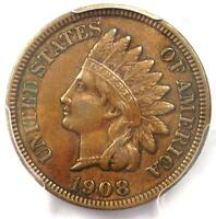 1908 Indian Cent Penny MPD FS-302 S-9 - PCGS XF45 - Rare Variety - $525 Value!