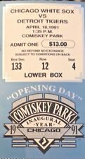 TICKET STUB from FIRST GAME EVER AT COMISKEY PARK - White Sox vs Tigers 4/18/91