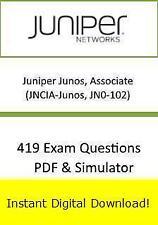 JN0-102 Juniper Junos Associate JNCIA-Junos (419 Exam+PDF->Email)