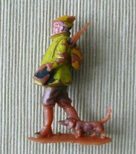 Figurine publicitaire Jacquet La Chasse Chasseur avec chien - 1/35